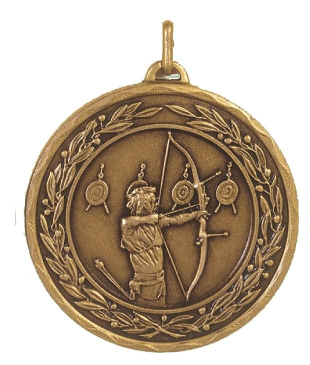 Bronze Laurel Economy Archery Medal (size: 50mm) - 4191E