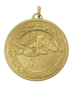 Gold Laurel Economy Clay Pigeon Medal (size: 50mm) - 4190E