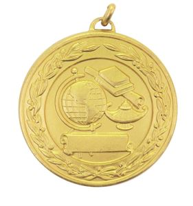 Gold Laurel Economy Academic Medal (size: 50mm) - 9599E