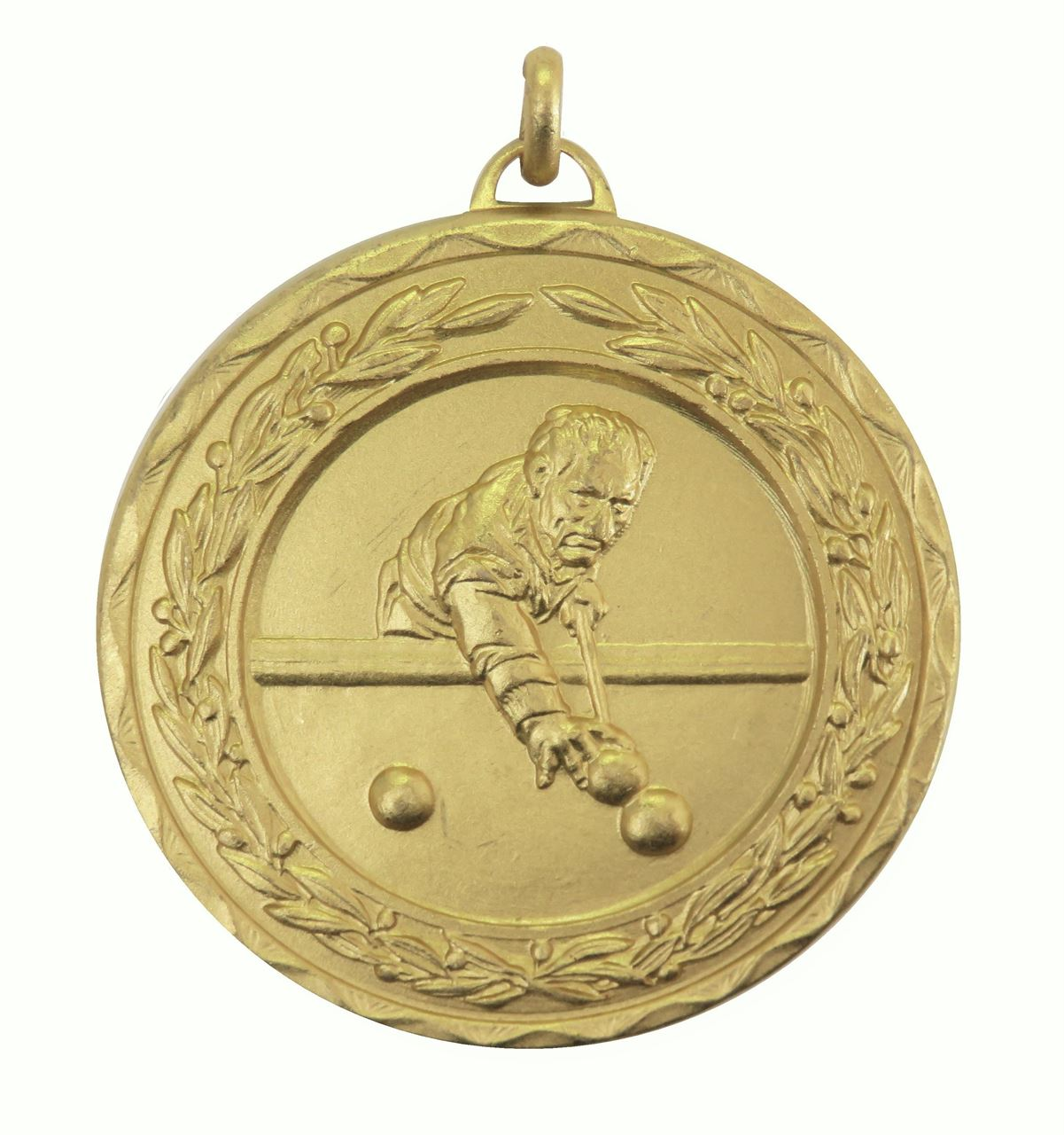 Gold Laurel Economy Snooker / Pool Medal (size: 50mm) - 4015E
