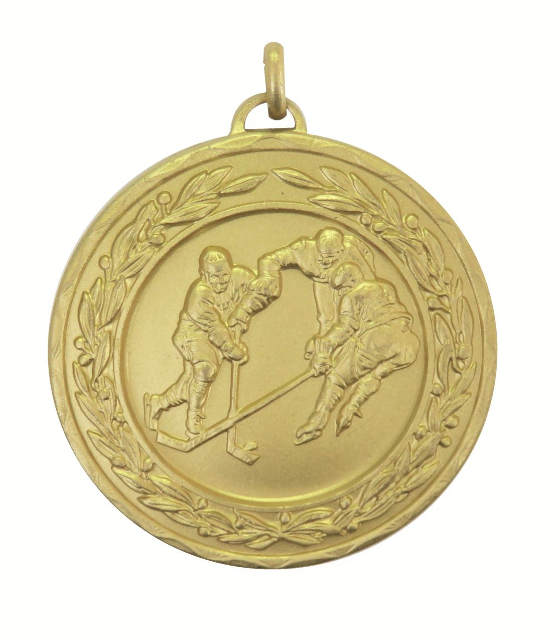 Gold Laurel Economy Ice Hockey Medal (size: 50mm) - 4170E