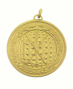 Gold Laurel Economy Golf Medal (size: 50mm) - 9654E