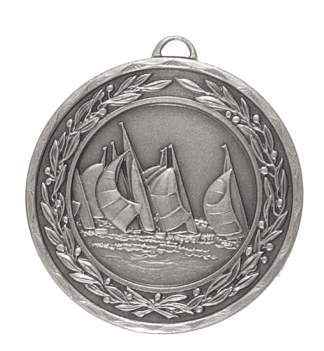 Silver Laurel Economy Sailing Medal (size: 50mm) - 4300E