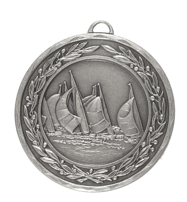 Silver Laurel Economy Sailing Medal (size: 50mm) - 4300E