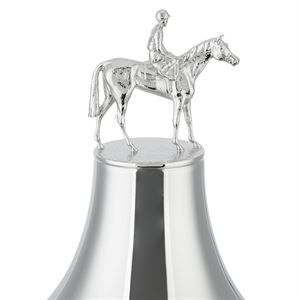 The Colossal Cup with Hand Chased Laurel Wreath and Horses and Jockey Lid