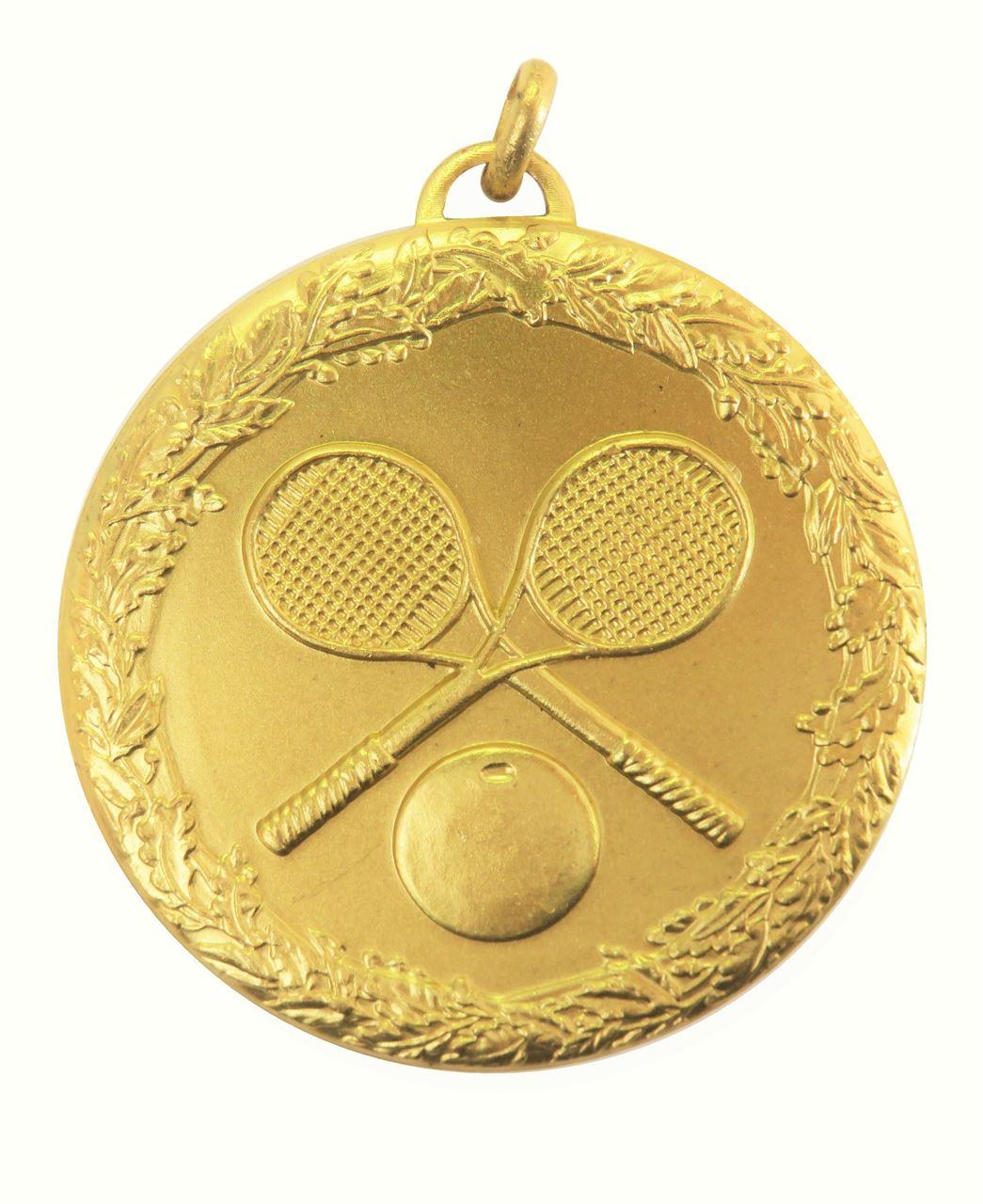 Gold Laurel Economy Squash Medal (size: 50mm) - 5493E