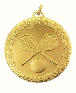 Gold Laurel Economy Squash Medal (size: 50mm) - 5493E