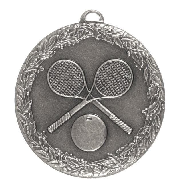 Silver Laurel Economy Squash Medal (size: 50mm) - 5493E