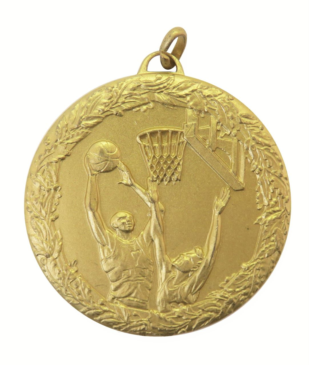 Gold Laurel Economy Basketball Jump Medal (size: 50mm) - 5415E