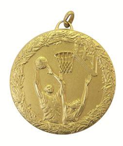 Gold Laurel Economy Basketball Jump Medal (size: 50mm) - 5415E