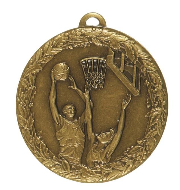 Bronze Laurel Economy Basketball Jump Medal (size: 50mm) - 5415E