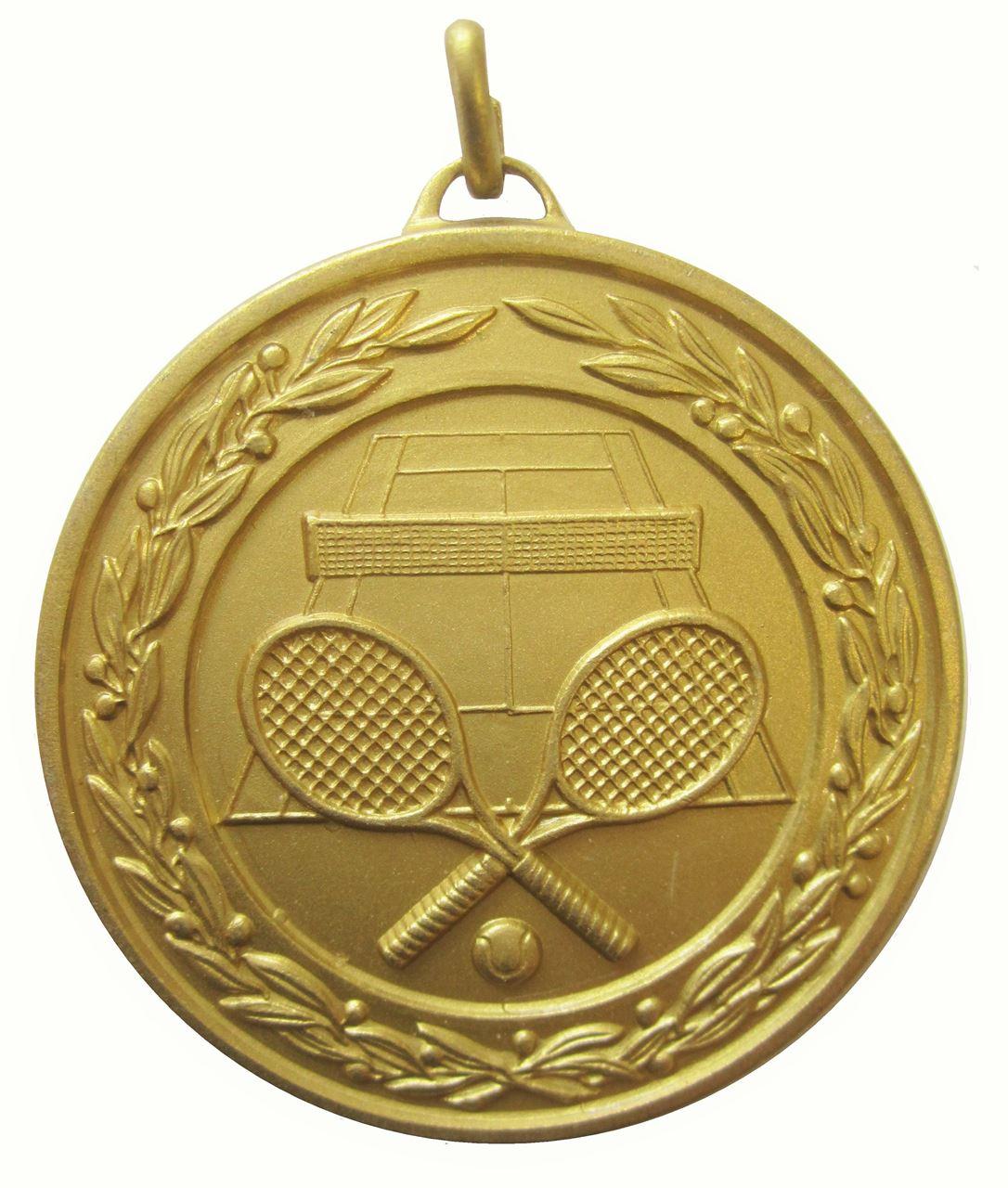 Gold Laurel Economy Tennis Medal (size: 50mm) - 9621E