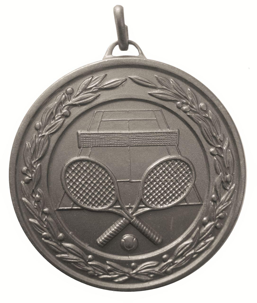 Silver Laurel Economy Tennis Medal (size: 50mm) - 9621E