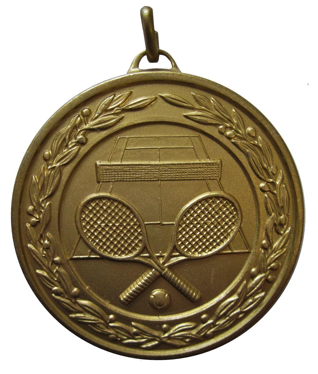 Bronze Laurel Economy Tennis Medal (size: 50mm) - 9621E