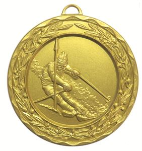 Gold Laurel Economy Skiing Medal (size: 50mm) - 9806E