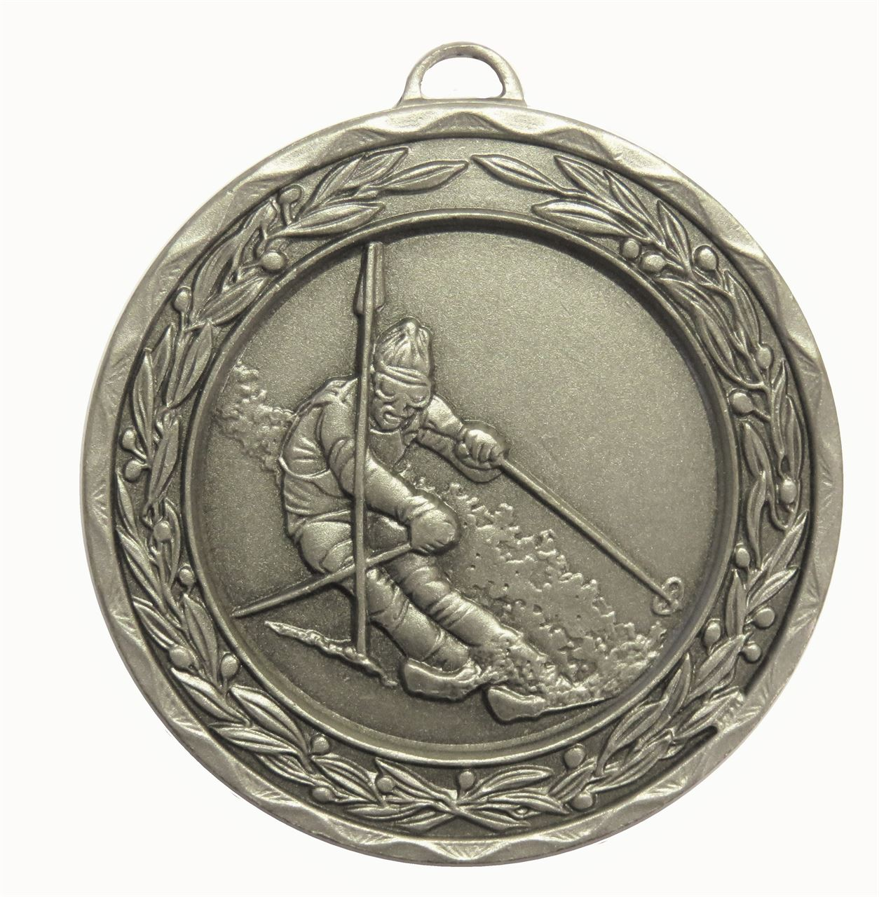 Silver Laurel Economy Skiing Medal (size: 50mm) - 9806E
