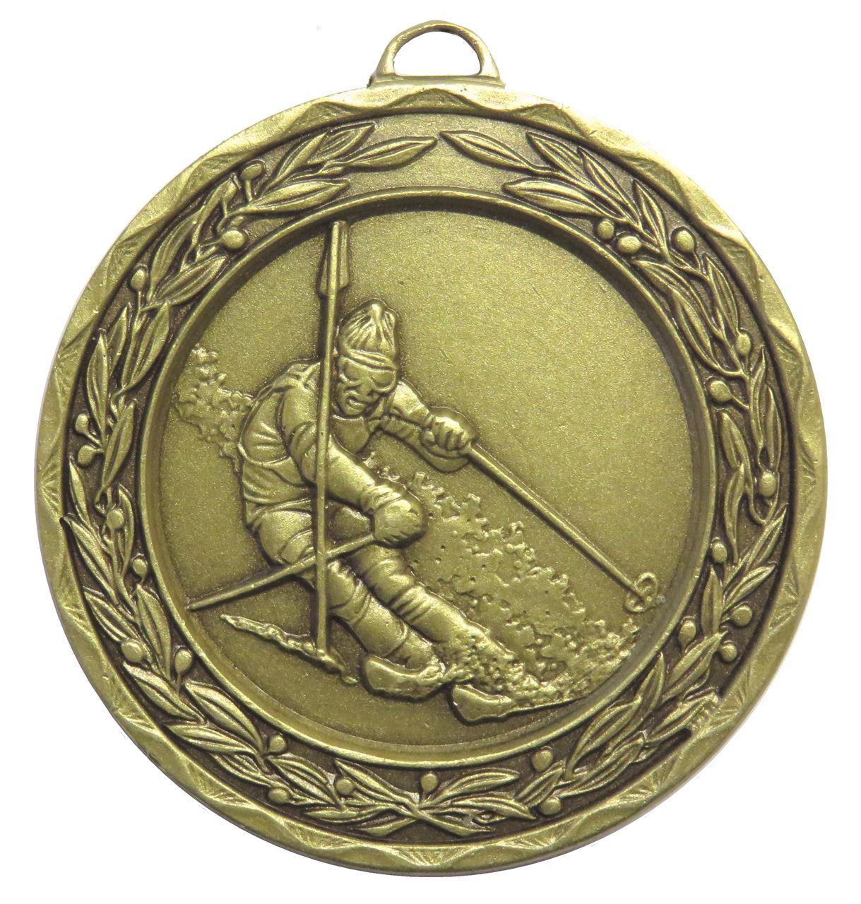 Bronze Laurel Economy Skiing Medal (size: 50mm) - 9806E