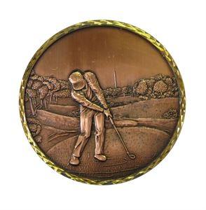 Premium Brass Golf 1 Medal