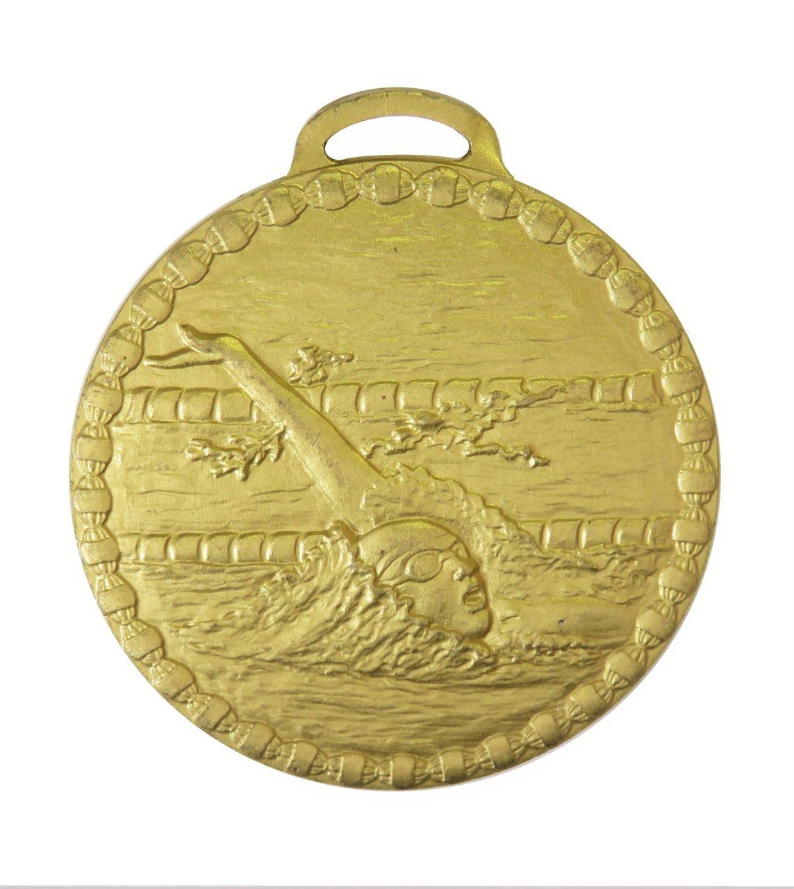 Gold Female Back Stroke Value Swimming Medal (size: 50mm) - 675E
