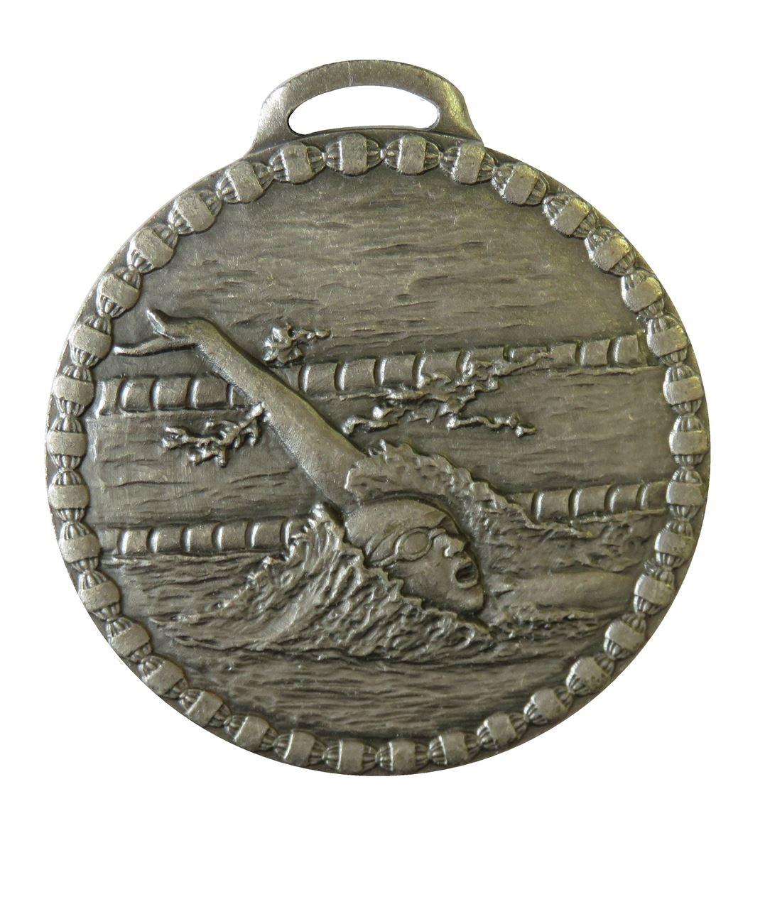 Silver Female Back Stroke Value Swimming Medal (size: 50mm) - 675E