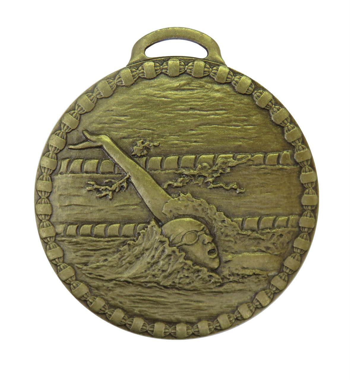 Bronze Female Back Stroke Value Swimming Medal (size: 50mm) - 675E