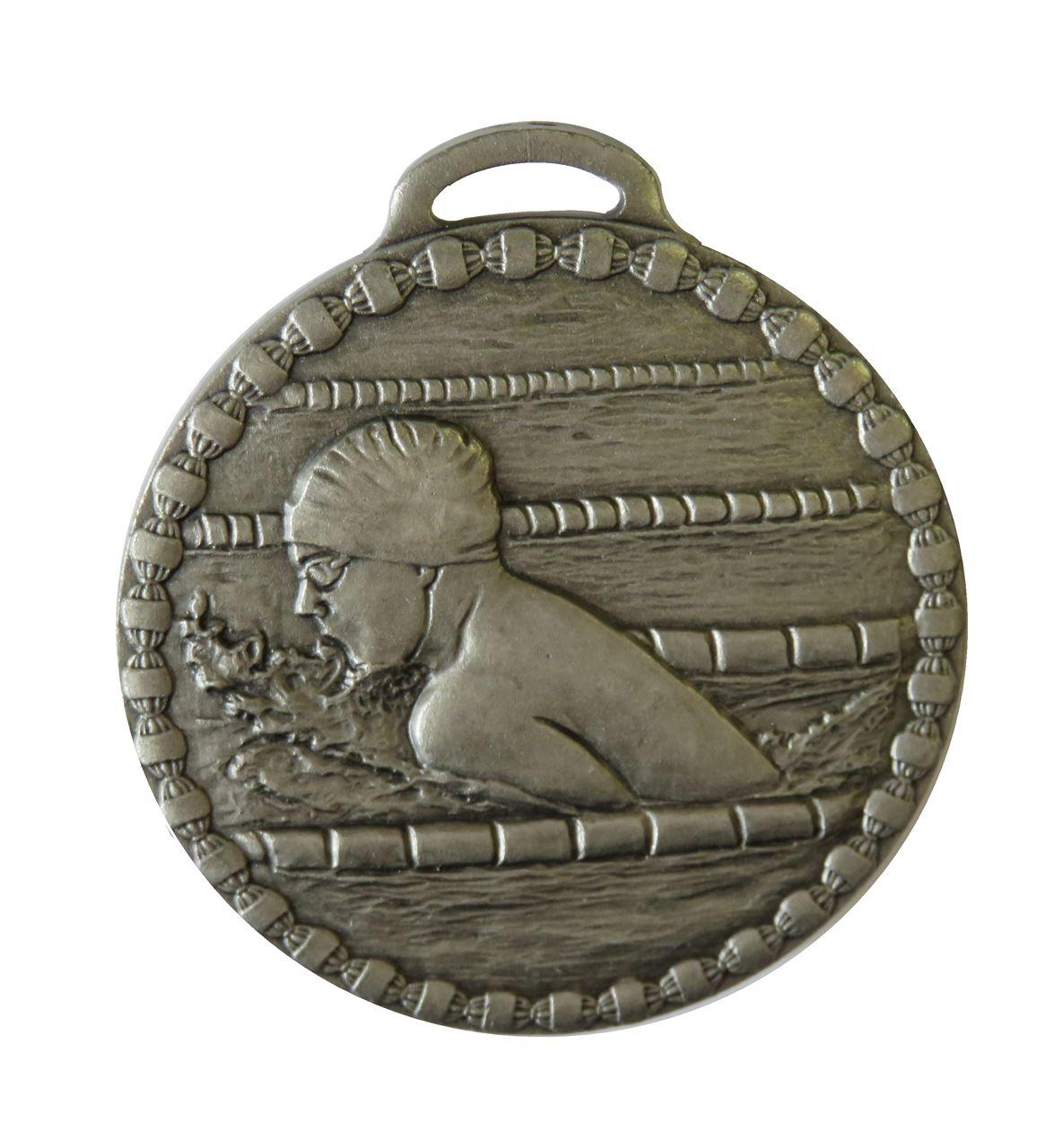 Silver Male Breaststroke Value Swimming Medal (size: 50mm) - 678E