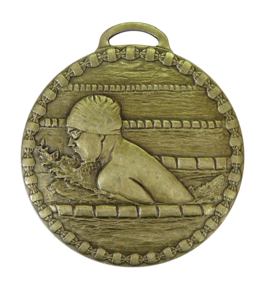 Bronze Male Breaststroke Value Swimming Medal (size: 50mm) - 678E