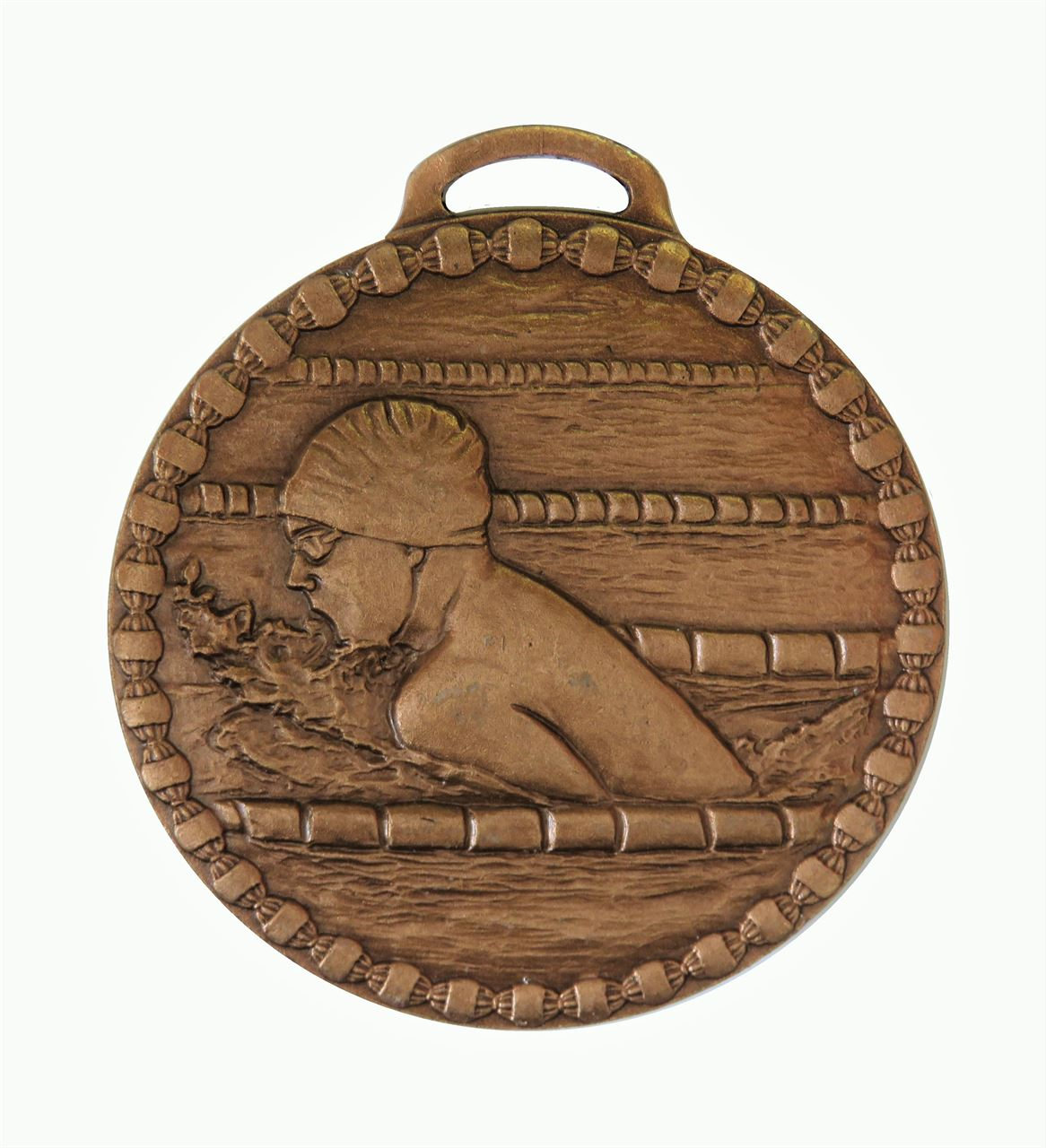 Copper Male Breaststroke Value Swimming Medal (size: 50mm) - 678E