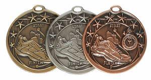 Star Design Running Medal