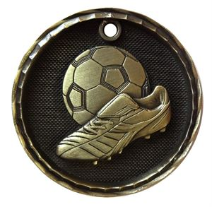 Gold Value Football & Boot Medal (50mm) - 63425