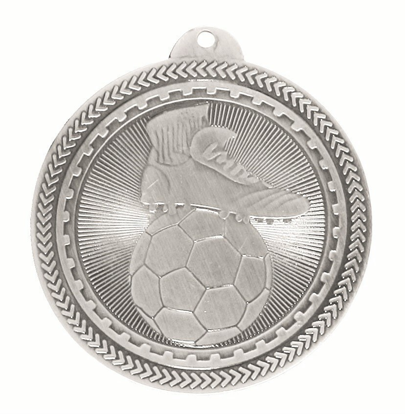 Silver Super Value Football Medal (50mm) - 63500