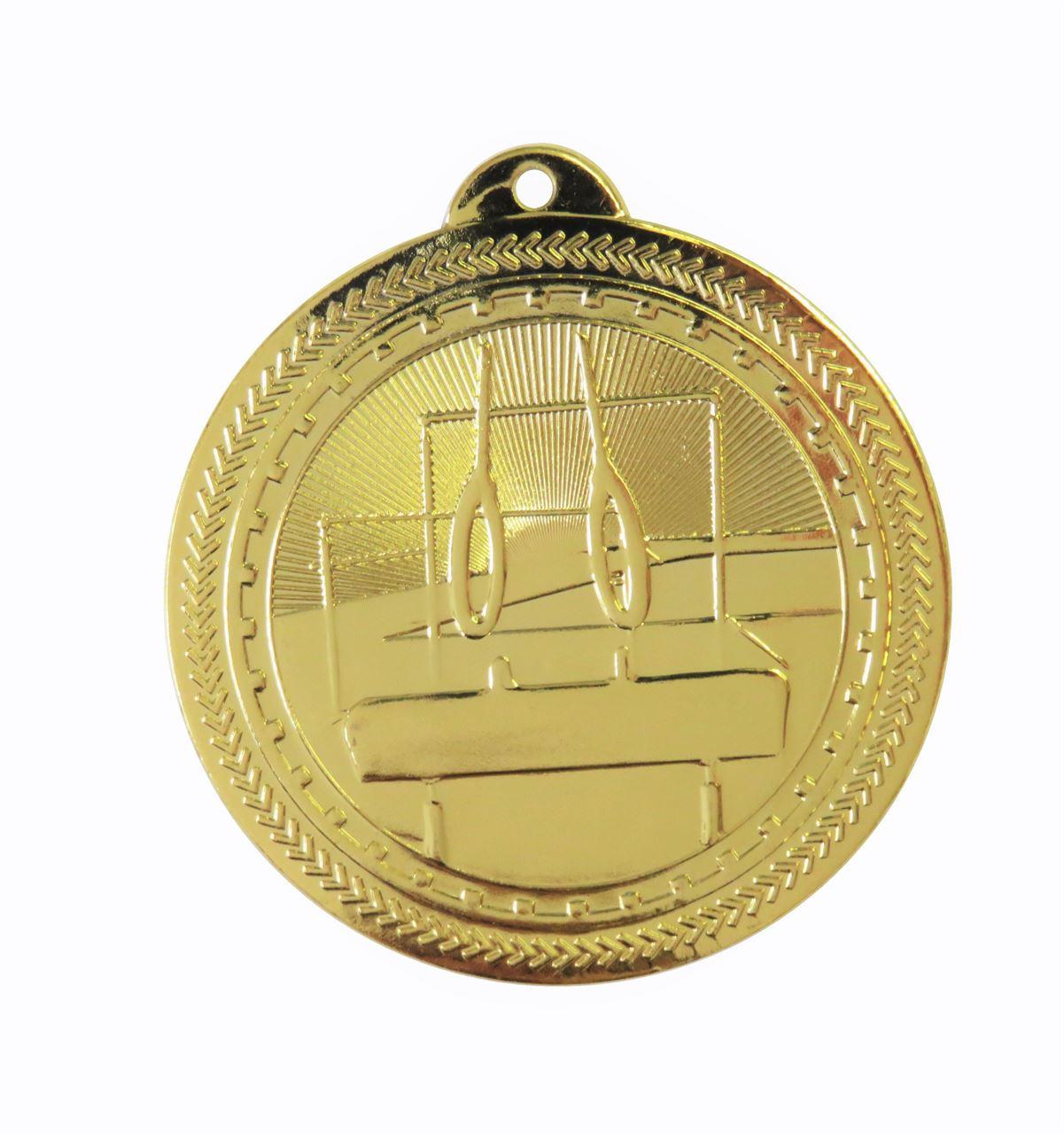 Gold Super Value Gymnastics Medal (50mm) - 63566