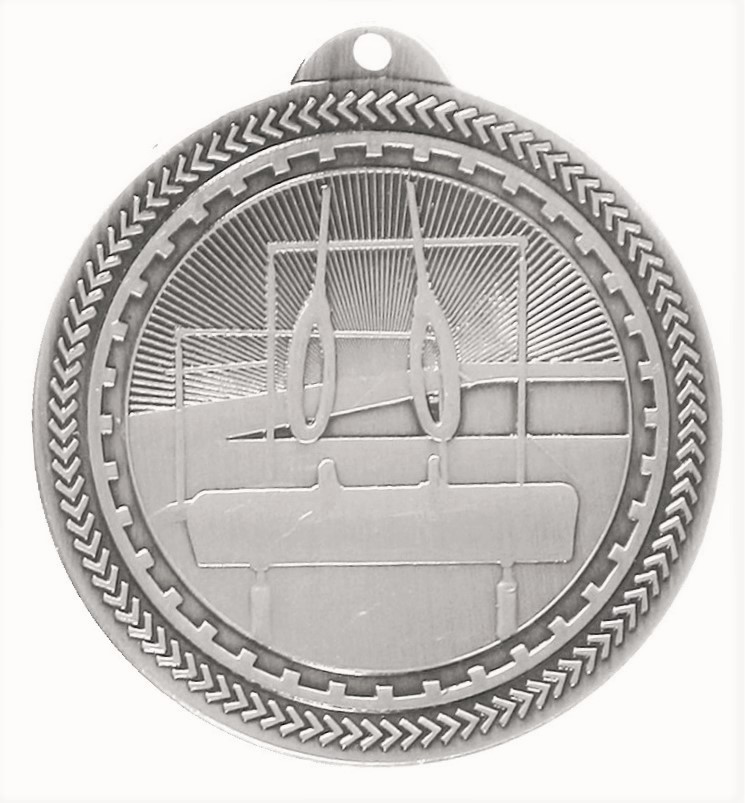 Silver Super Value Gymnastics Medal (50mm) - 63566