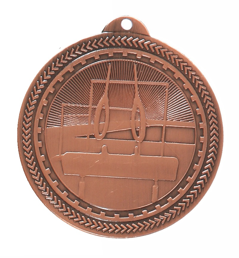 Copper Super Value Gymnastics Medal (50mm) - 63566