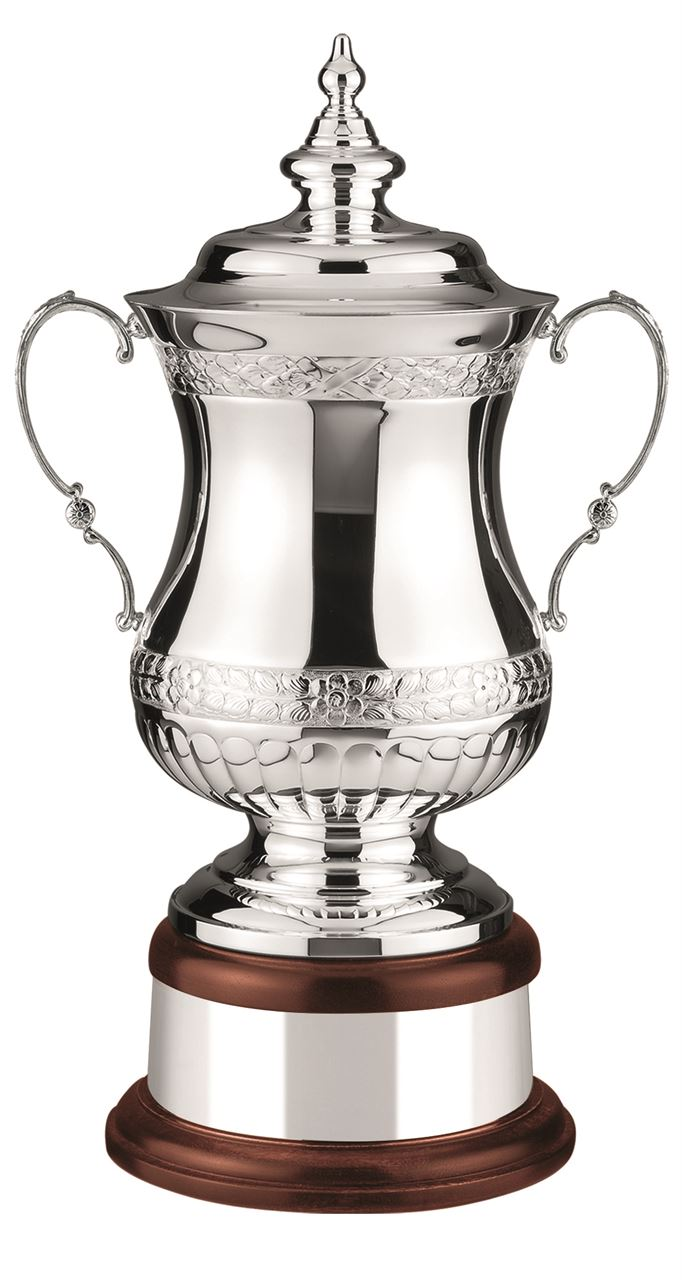 Heroes Hand Chased Silver Plated Cup - L567