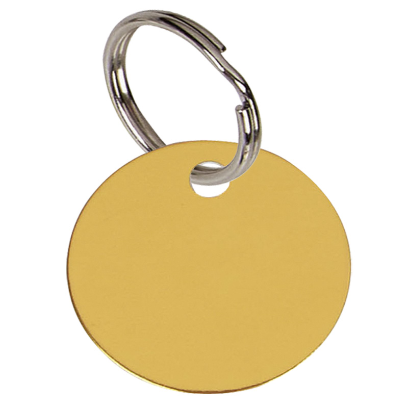 Round Anodised Alum Pet Tag Large - Gold PT003G