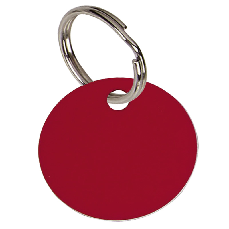 Round Anodised Alum Pet Tag Large - Red PT003R