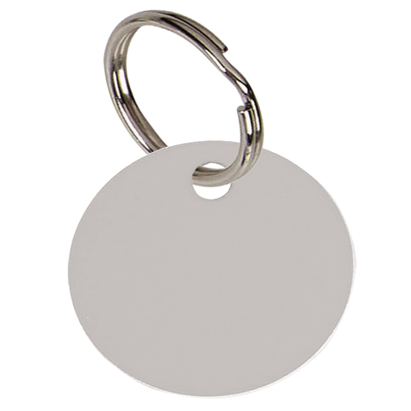 Round Anodised Alum Pet Tag Large - Silver PT003S