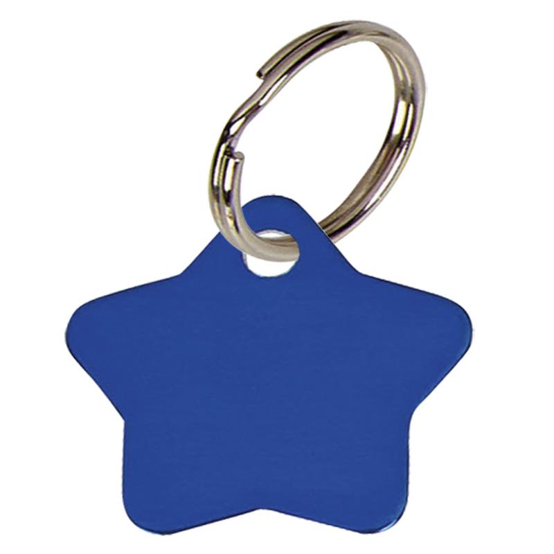 Star Anodised Alum Pet Tag - Blue PT013BL
