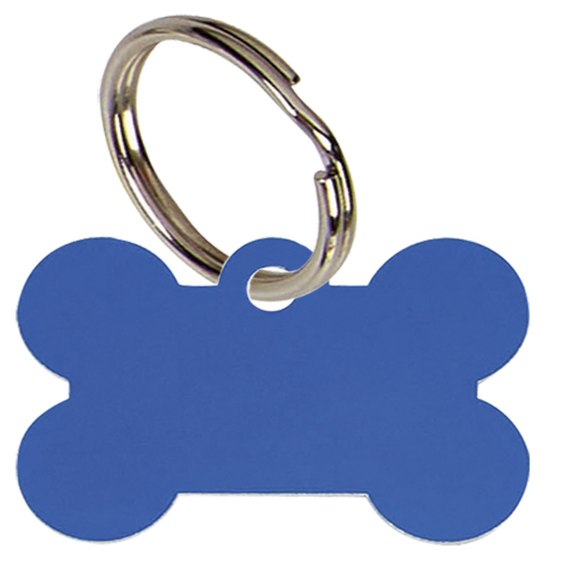 Bone Anodised Alum Dog Tag Large - PT011BL