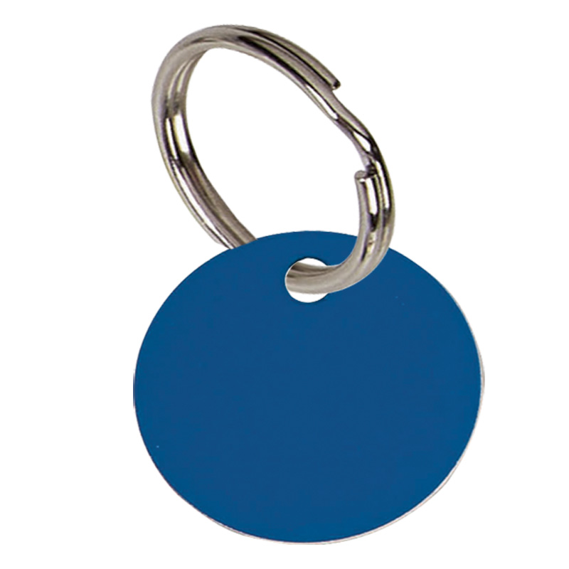 Round Anodised Alum Pet Tag Small - Blue PT001BL