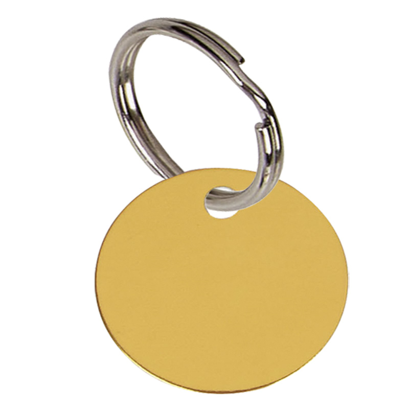 Round Anodised Alum Pet Tag Small - Gold PT001G