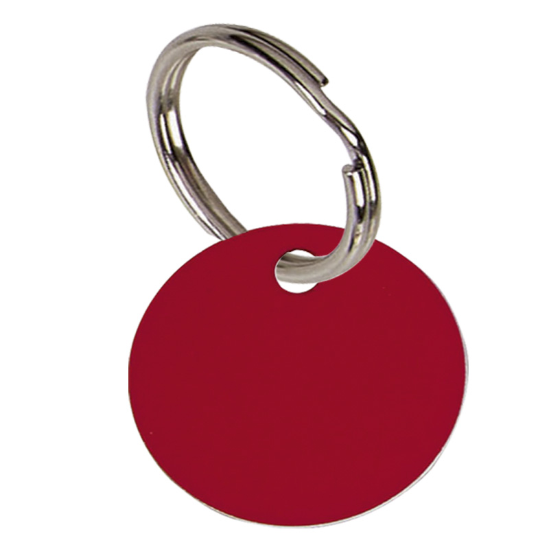 Round Anodised Alum Pet Tag Small - Red PT001R