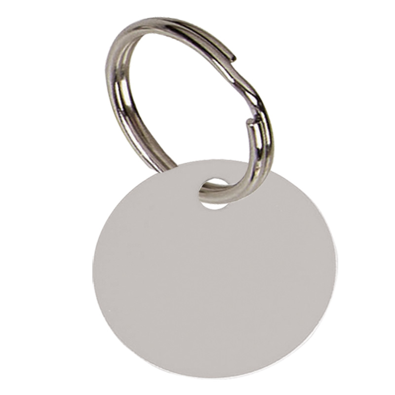 Round Anodised Alum Pet Tag Small - Silver PT001S