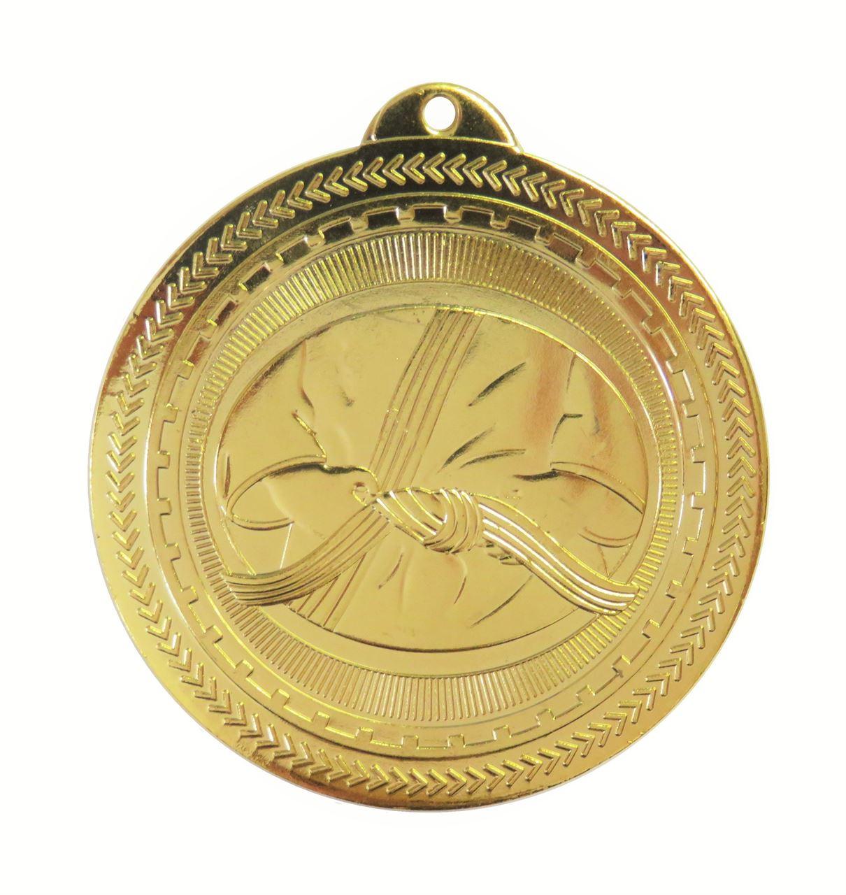 Gold Super Value Martial Arts Medal (size: 50mm) - 63504