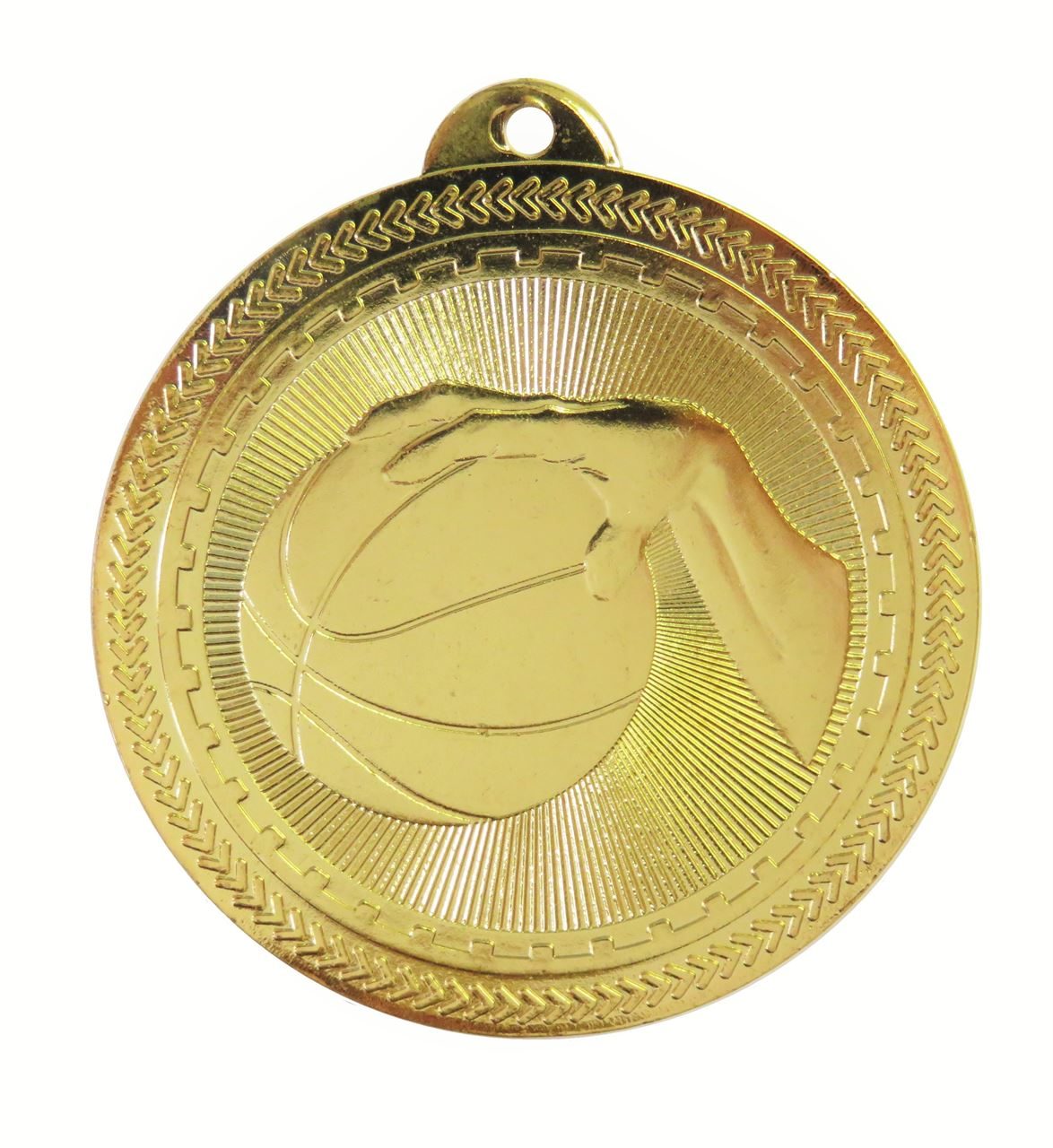 Gold Super Value Basketball Medal (size: 50mm) - 63505