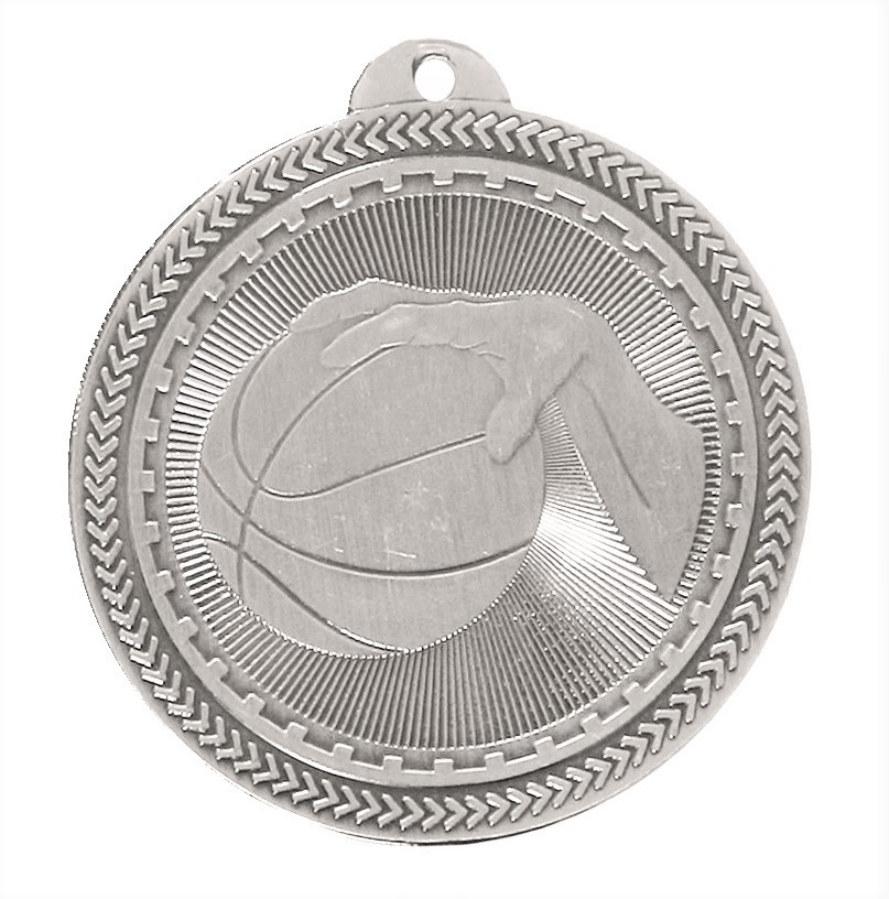 Silver Super Value Basketball Medal (size: 50mm) - 63505
