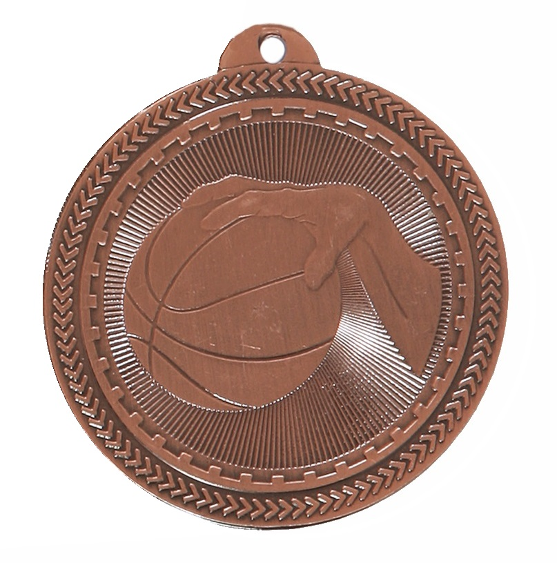 Copper Super Value Basketball Medal (size: 50mm) - 63505