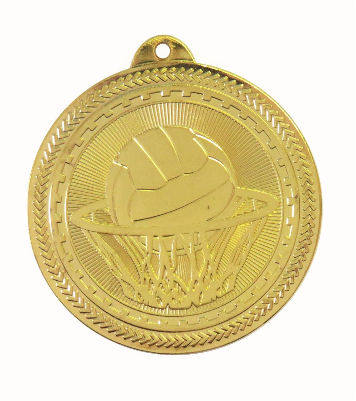 Gold Super Value Netball Medal (size: 50mm) - 63517