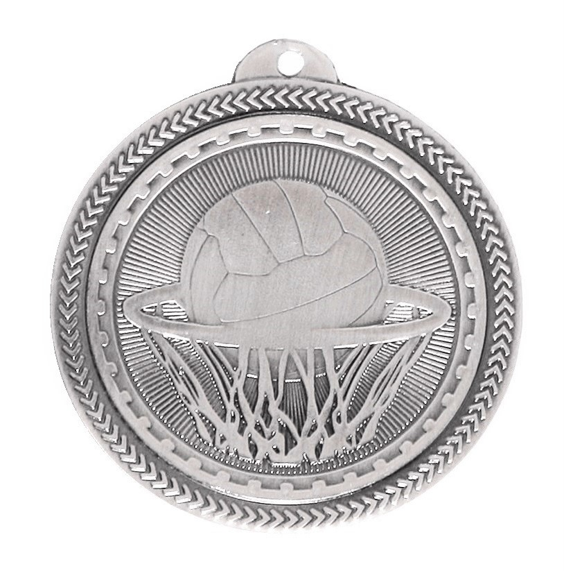Silver Super Value Netball Medal (size: 50mm) - 63517